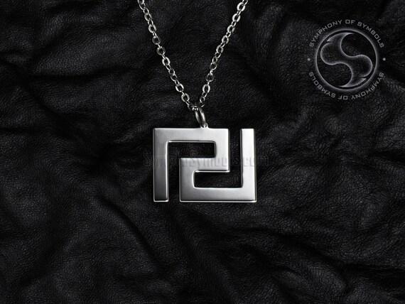 Meander Pendant Greek Symbol Stainless Steel Jewelry Greek Key