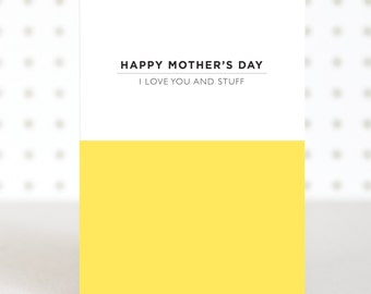 Love You - Mother's Day Card - Funny Mother's Day Card - Pantone