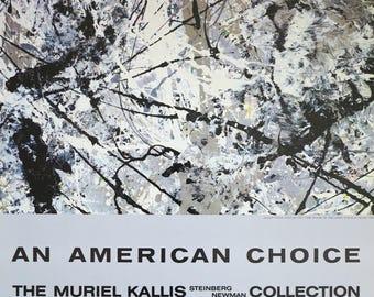 Jackson Pollock exhibition poster - Number 28 - Metropolitan Museum of Art - museum print - offset litho - 1981
