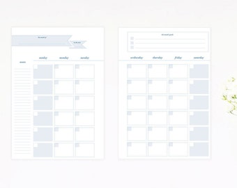 Monthly Planner Inserts