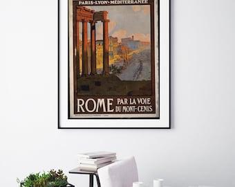 Rome - Vintage Print - Italian Collection