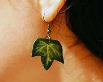 Handmade Ivy leaf earrings