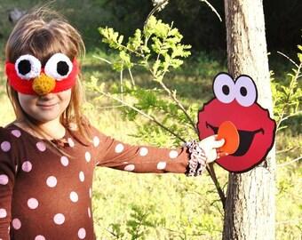 Elmo Game - pin the nose on elmo - Elmo birthday party