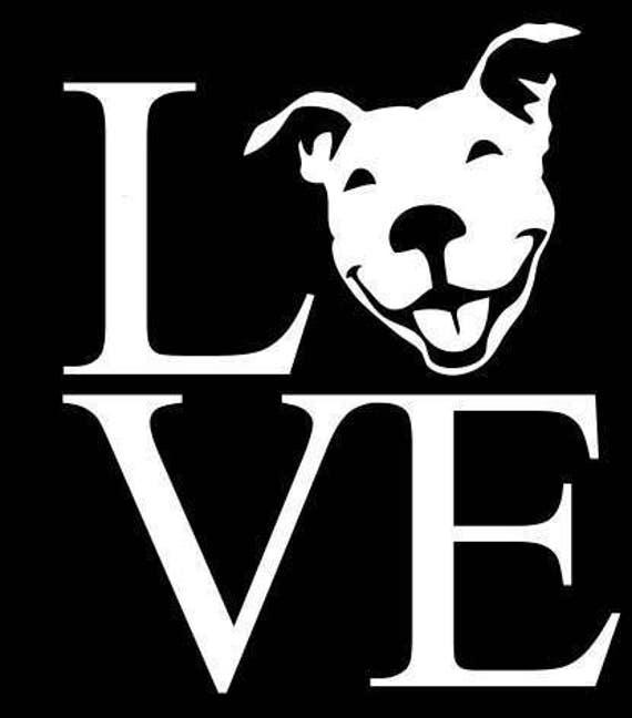 Pit Bull Love Car Decal American Bully Pitbull Rescue Dog