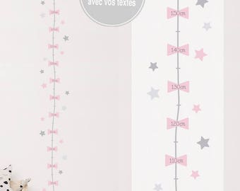 "Gauge adhesive customizable ""Constellation - girl"" with text of your choice (custom sticker) - baby girl nursery decor"