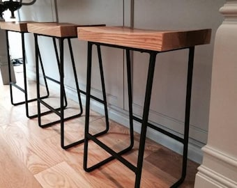 Metal & Wood Bar Stools