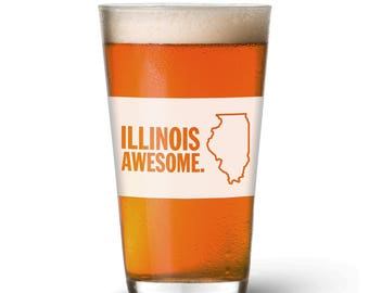 Illinois Awesome Pint Glass