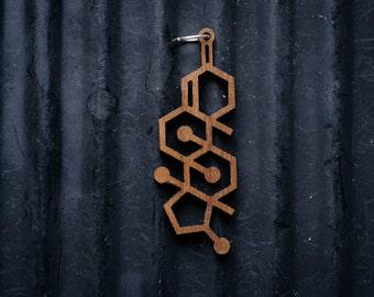 Testosterone Molecule Necklace pendant
