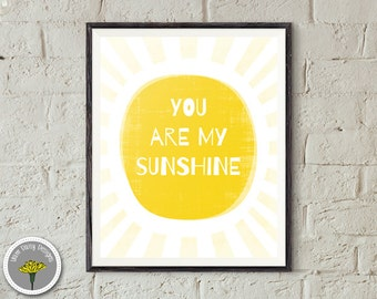 "You are my sunshine, Printable, Instant Download, Poster, Print 8x10"", PERSONAL USE ONLY"