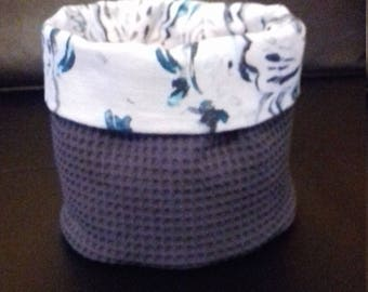 Basket round honeycomb