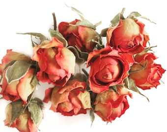 Dried rose flowers pressed flowers dried flowers for work creative flowers for tickets