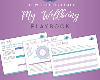 Wellbeing Playbook; Health & Fitness planner; Weight loss kit; Self-care; Printable; Exercise journal; diet planner; instant download