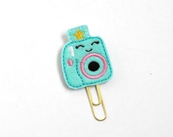 Kawaii Mini Instax Camera Felt Planner Clip / Bookmark