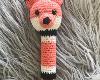 Fox rattle crochet baby gift under 20 dollars