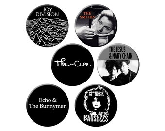 """Indie Badge Pack #1 - Half Dozen Quality 1.25"""" Indie Music Pinback Buttons or Pins"""