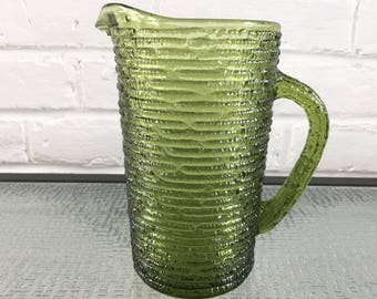 Anchor Hocking Soreno 28 oz Juice Pitcher in Avocado Green