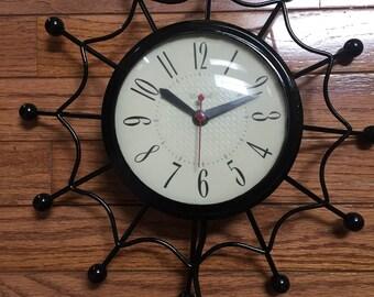 Spider Web MCM Wall Clock