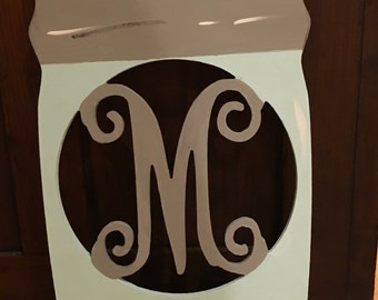 Monogrammed Mason Jar - Painted