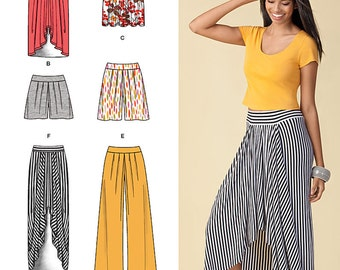 Simplicity Sewing Pattern 1429 Misses' Pull on Knit Skirt, Pants & Shorts