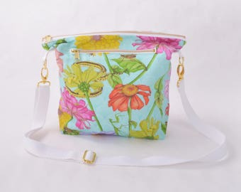 Purse - Zinnia and Garden Insect
