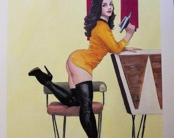 Star Trek yellow dress original painting
