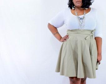 """Plus Size Skirt  (size 26- 38)  Red, Khaki, Royal Blue, Navy, Green, White 28"""" L"""