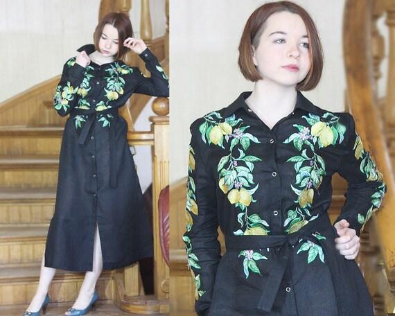 Black Linen chic Linen Women's Dress Linen Kaftan Dress Boho Linen Embroidered Dress Dress Sleeve Cocktail Long Dress Maxi Long Shirt Shirt YTRXqR
