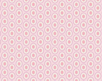 Art gallery fabrics-oval elements in petal pink-by the Yard