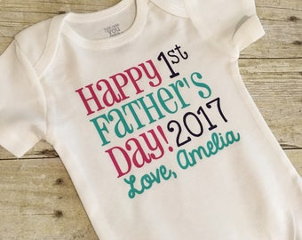 First Father's Day Onesie - 1st Father's Day Onesie - Father's Day Onesie - Baby Outfit - Father's Day Gift - Personalized