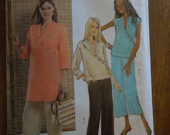 Butterick B4814, sizes large to xlarge, pullover top, tunic, pants, UNCUT sewing pattern, craft supplies