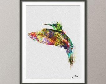 Bird watercolor poster bird print watercolor bird art wall hanging hummingbird poster watercolor decor painting birds decor A120-2