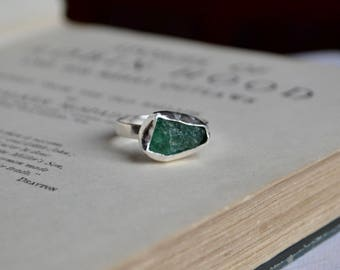 Natural Raw Emerald Ring