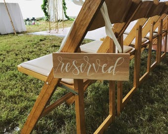 Hand lettered Reserved Sign