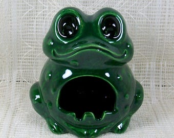 Handmade Ceramic Frog Sponge Holder / Frog Figurine / Frog Statue /  Kitchen Sponge Holder / Sink Sponge Holder / Frog Decor