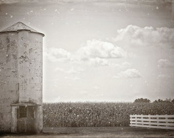 Black and White Photograph, Farm art, vintage Photo, Farm Photography, Rural art, Farm Print, Wet Plate, Fine Art Photography