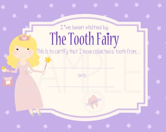 Tooth fairy pdf etsy sale tooth fairy certificate digital printable instant download pdf commercial use yelopaper Image collections