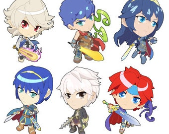 Fire Emblem Art Magnets - Choose from Corrin, Marth, Roy, and more
