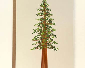 Redwood Forest Animals Recycled Blank Card