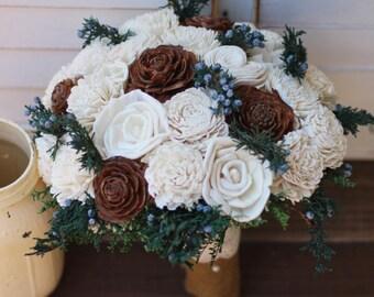 Sola Bouquet, Juniper Berry Sola Bouquet, wedding bouquet, bridal bouquet, alternative bouquet, woodland wedding, rustic wedding