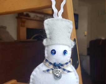 Christmas Tree Ornament Sewing Kit, Snowman,