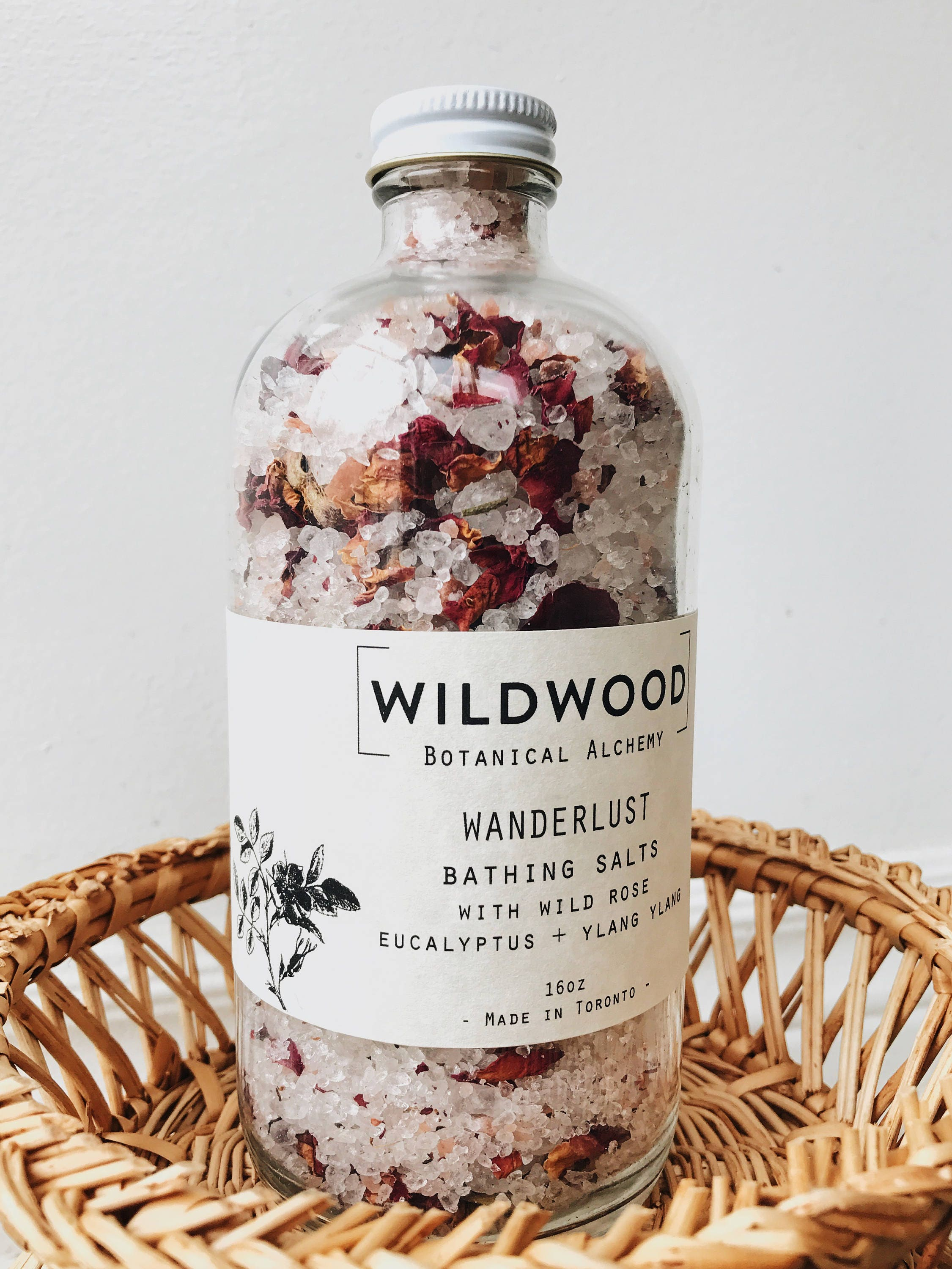 Wildwood WANDERLUST Rose Bath Bath Salts Bath Soak w/