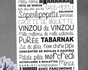Card with a few small names, well most beautiful big words!