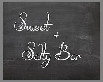 PRINTABLE 8x10 Sweet + Salty Bar Trail Mix CHALKBOARD SIGN