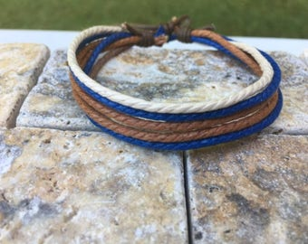 Adjustable Hemp Bracelet Made With 6 Strands of Hemp Gifts Under Mothers Day Gift HB-19