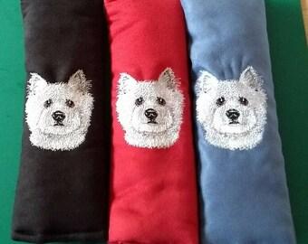 Westie. West highland Terrier. Dog. Seat belt Pad