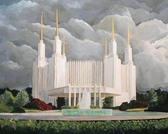 Washington DC Temple. Art Print