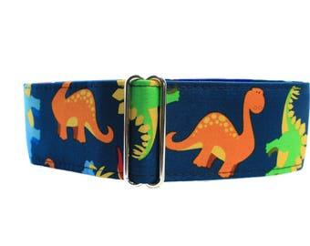 Greyhound Collar, Dinosaur Martingale Collar, Martingale Dog Collar, 2 Inch Martingale Collar Martingale Collar for Boys Dinosaur Dog Collar
