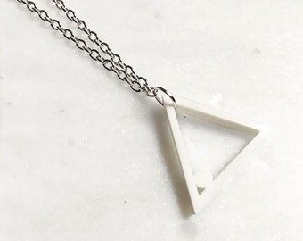 Laser Cut Triangle Geometric Perspex Necklace