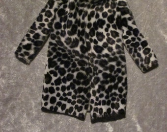 Fur jacket for Tonner doll in 1/4 size