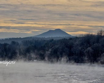 Camel's Hump on a Frosty Morning in Vermont